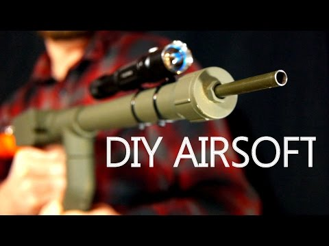 How To Make A BB Machine Gun For $5 - Easy Hand Powered Airsoft Gun