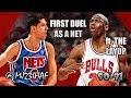 Michael Jordan vs Dražen Petrović Highlights Bulls vs Nets (1991.02.16)-43pts TOTAL,FIRST REAL DUEL!
