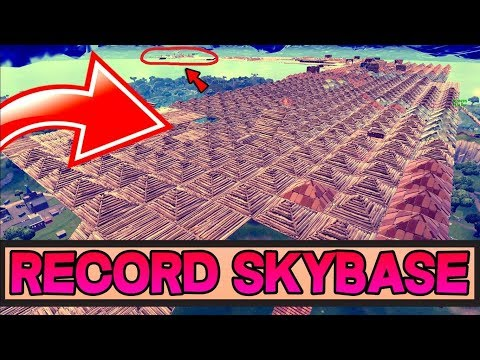 RECORD DE LA PLUS GROSSE *SKYBASE* AU MONDE SUR FORTNITE BATTLE ROYALE 🔥