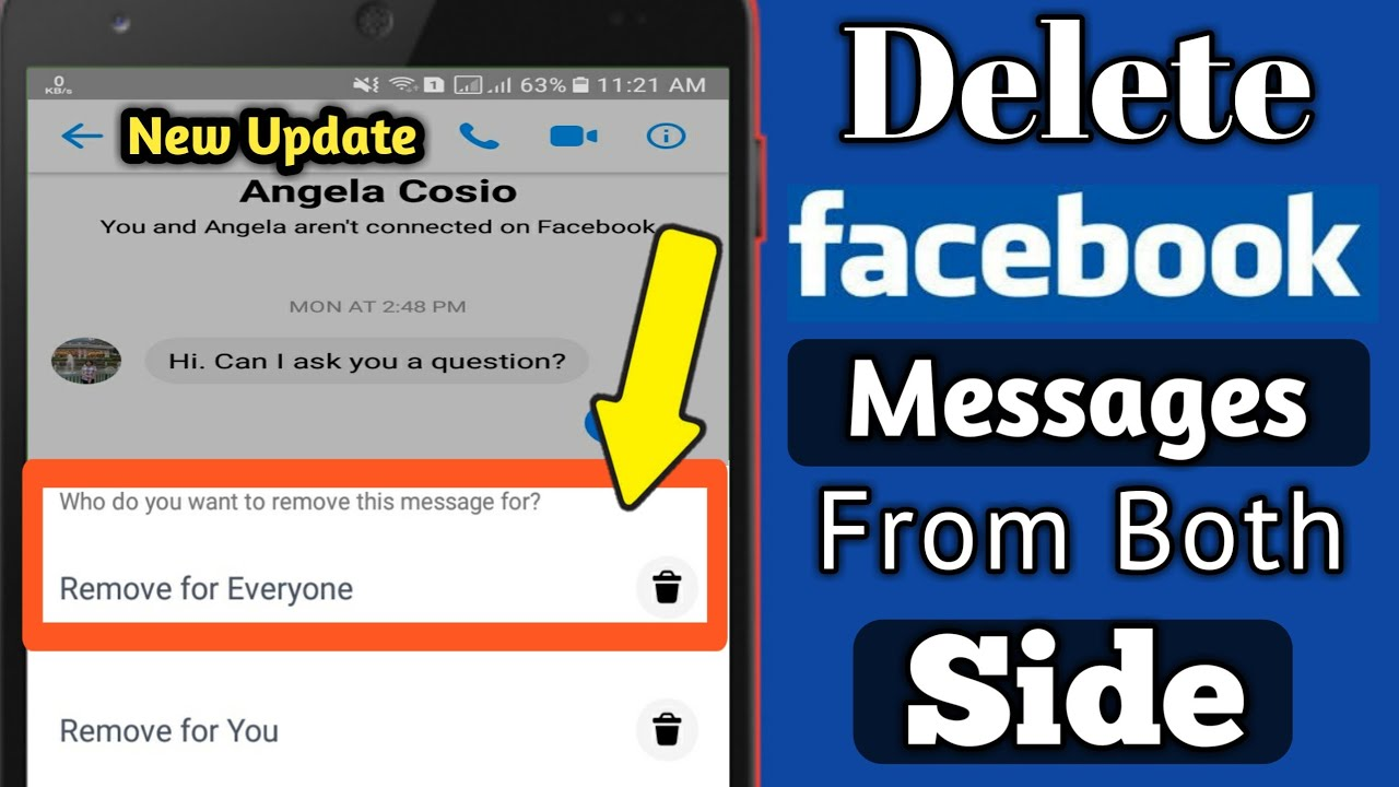 Delete Facebook Message From Both Side | Permanently Delete Facebook  message From Both Side 2019
