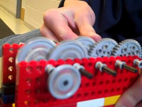 The BEAST lego gear train