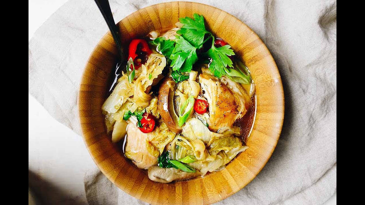Instant Pot Chicken Napa Cabbage Soup Best Weight Loss Soup Recipe