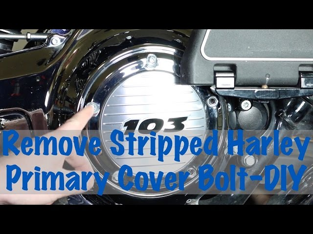 Extract Remove Harley Davidson Primary Cover Bolt Stripped Head