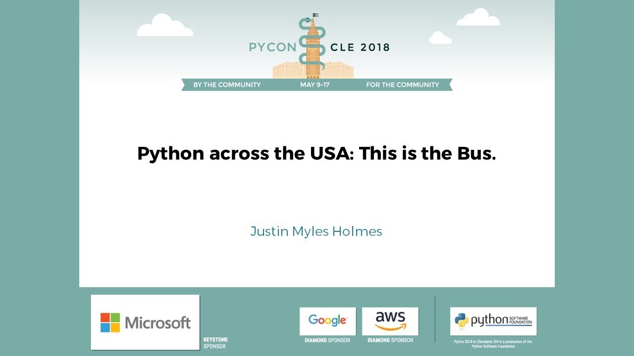 Image from Python across the USA: This is the Bus.