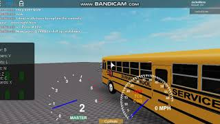 How to drive a IC FE School Bus (Roblox)