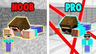 Minecraft NOOB VS PRO - UCIECZKA Z WIĘZIENIA!
