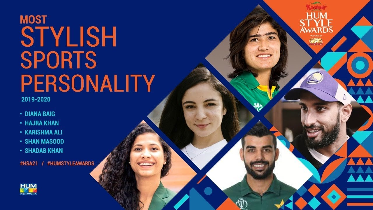 Nominations   Most Stylish Sports Personality  5th Kashmir HUM Style Awards 2021 Powered By GFC Fans