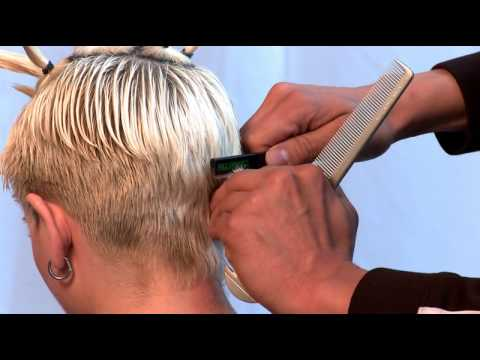 Razor Cut Haircut Using Donald Scott Carving Comb Ds X4
