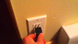 How to plug a charger into a socket!