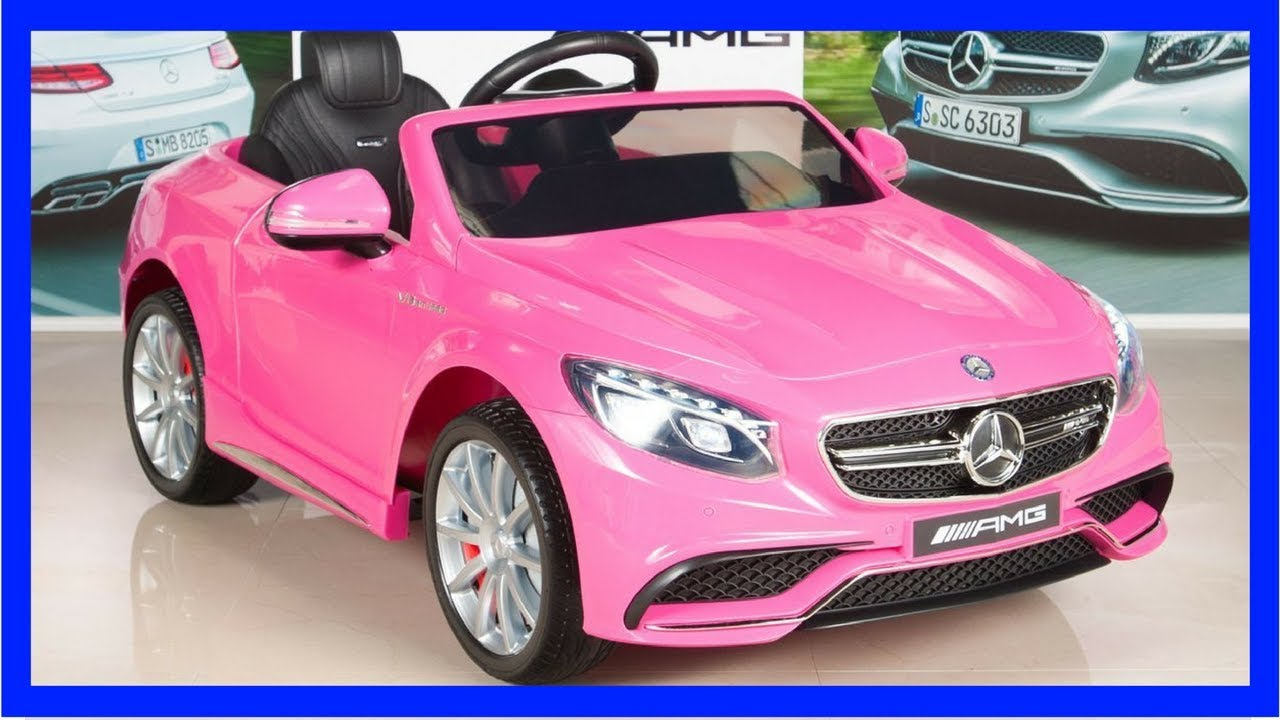 mercedes benz s63 kids 12v electric power wheels rc ride on car for kids from baby toys youtube. Black Bedroom Furniture Sets. Home Design Ideas
