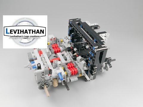Lego sequential dual clutch gearbox