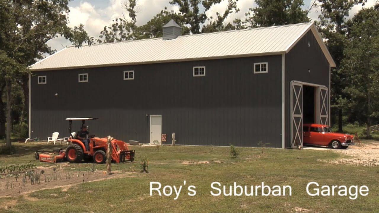 Morton Buildings Tour Roy S Suburban Garage Youtube