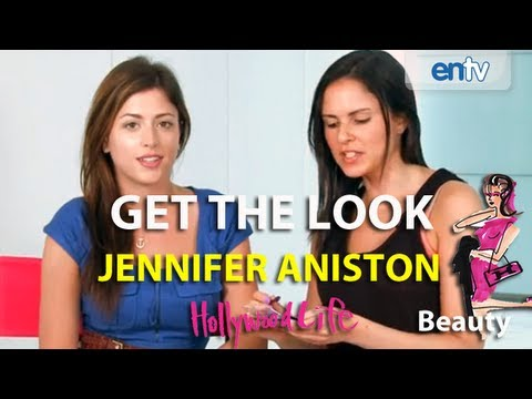 """JENNIFER ANISTON: Red Carpet Style, DIY Make Up How-To """"Get The Look"""": ENTV"""