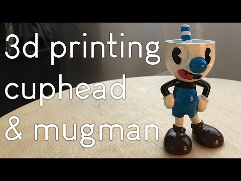 Mugman from Cuphead! (DIY 3d print)
