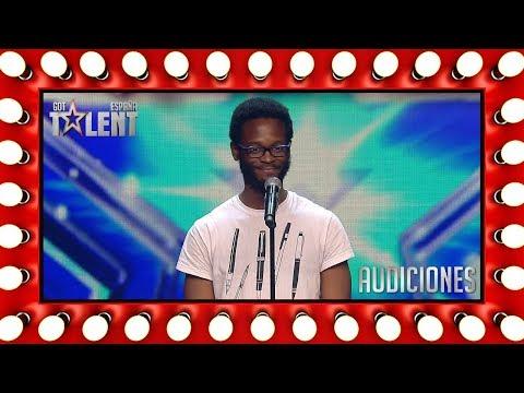 Vino de Guinea Ecuatorial para triunfar con su poesía | Audiciones 5 | Got Talent España 2018