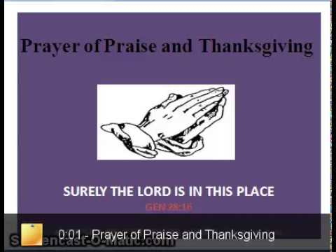 Prayer of Thanksgiving and Praise the Lord