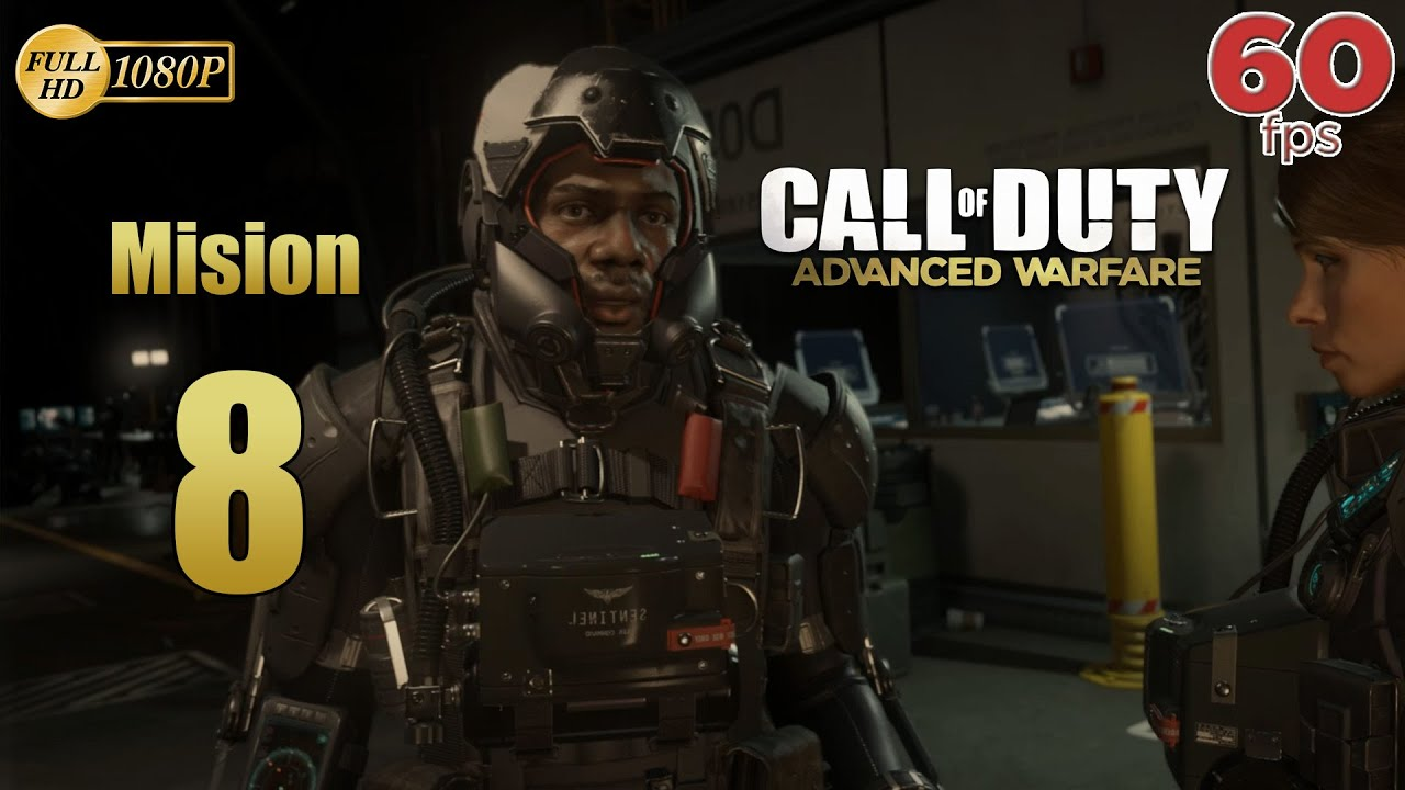 Call of Duty Advanced Warfare Mision 8 Sentinel | Español Gameplay PC PS4 XboxOne 60 fps 1080p