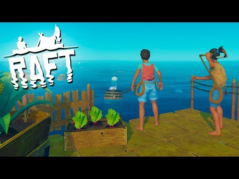 SCARY OCEAN DIVES!  - RAFT Multiplayer Gameplay (Episode 4)