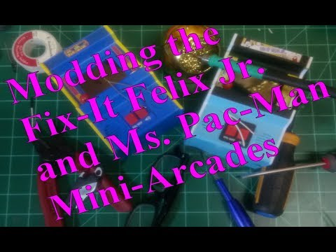 Fix-It Felix Jr. And Ms. Pac-Man By Basic Fun...Can We Mod Them?