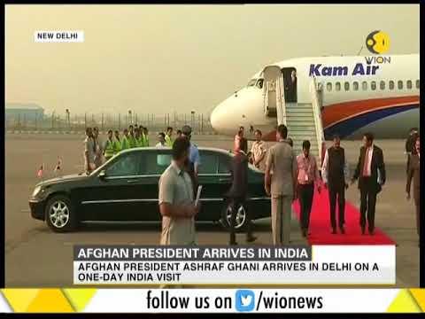 Afghan President Ashraf Ghani arrives in New Delhi