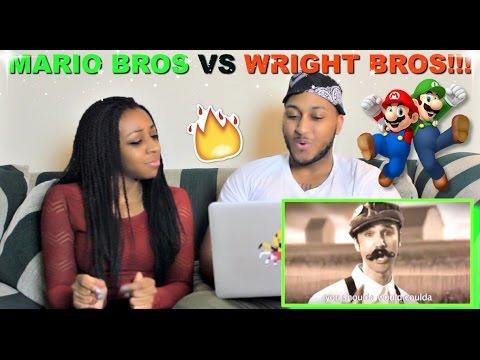 "Epic Rap Battles Of History ""Mario Bros Vs Wright Bros"" Reaction!!!"