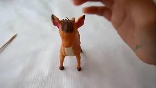 Cómo hacer a Bambi con plastilina, paso por paso.