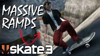 Skate 3: Speed Glitching Up MASSIVE Ramps!