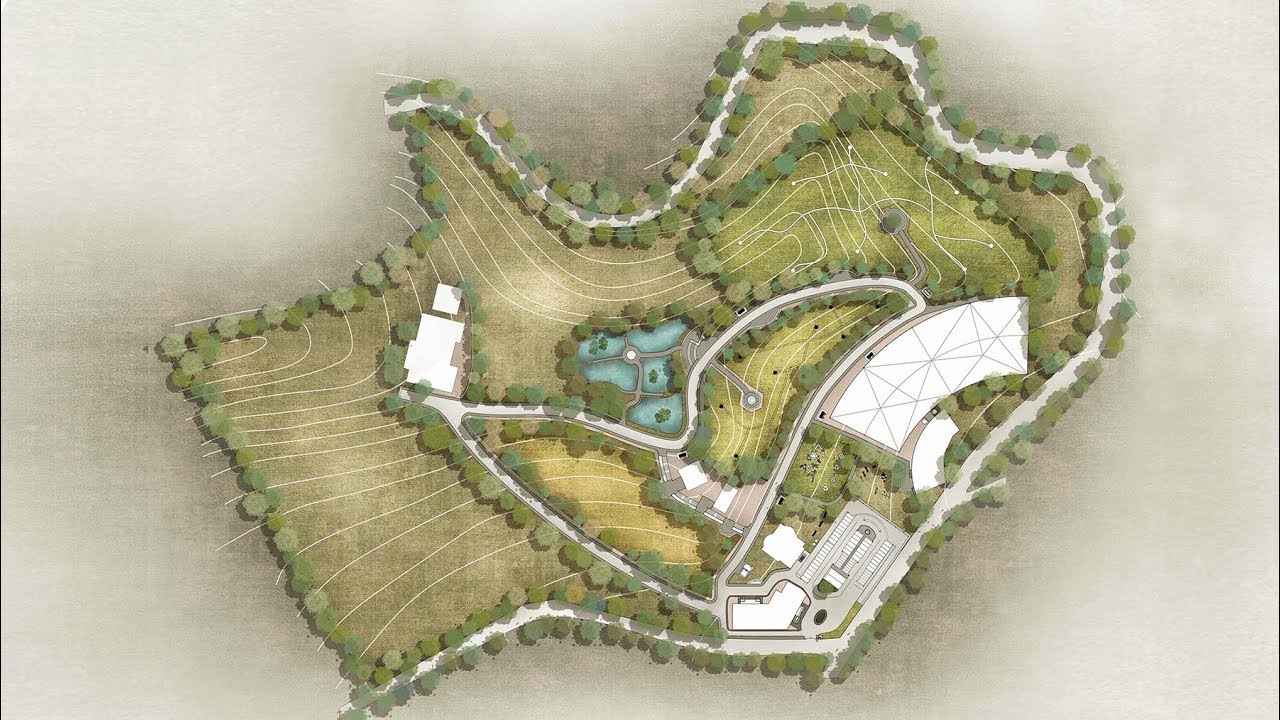 Plan Render in Photoshop   Landscape Plan Rendering
