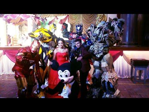 superheroes wedding reception transformers ironman