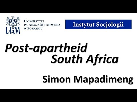 Post-apartheid South Africa - Simon Mapadimeng (21.08.17)