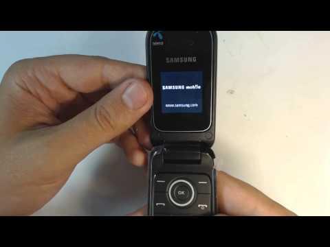 Samsung E1190 factory reset