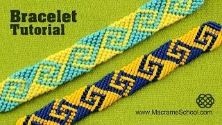 How to Make Greek Wave   Friendship Bracelet