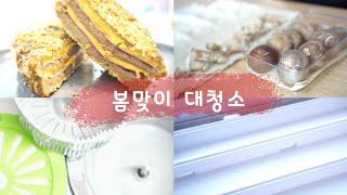[나의vlog☆3]봄맞이 대청소/싱크대,창틀,건조기,공…