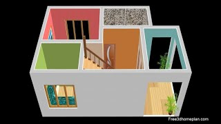 Small Home Plan 5x8 Metres For 6 Lac, Bedroom , Kitchen With Parking  2020
