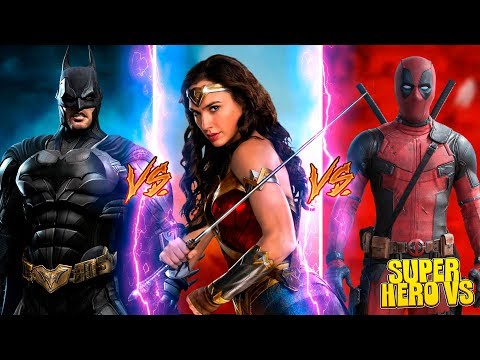 Minecraft SUPER HERO VS CHALLENGE - DEADPOOL VS WONDER WOMAN VS BAT MAN THE DARK KNIGHT!!