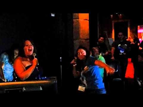 Two SOELIVE female karaoke singers