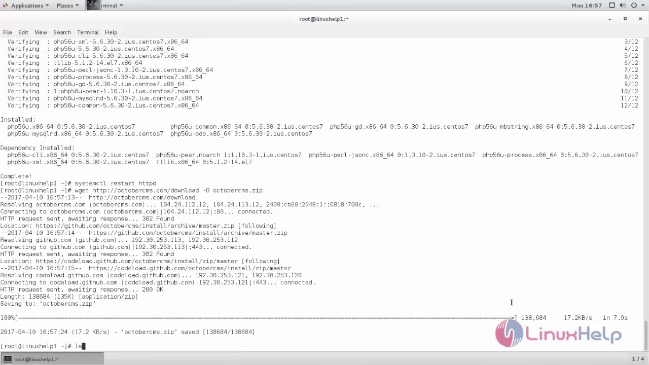 How to install OctoberCMS on CentOS 7 | LinuxHelp Tutorials