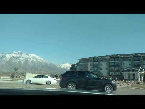Driving around Salt Lake City Utah in my Mustang. Utah Mountains.
