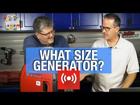 The Handyguys Live – What size generator do I need?