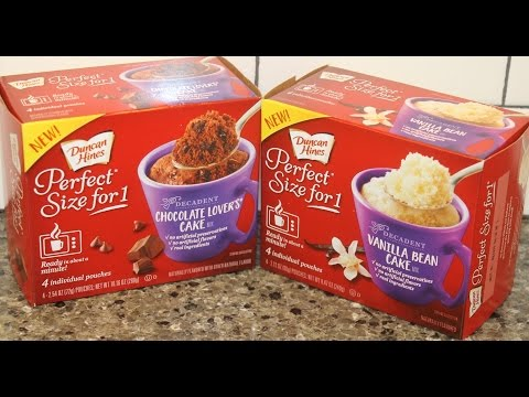 Duncan Hines Perfect Size For 1: Decadent Chocolate Lover's Cake and Vanilla Bean Cake Review