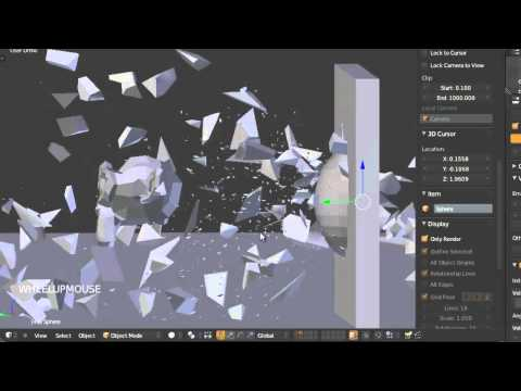 Tutoriel Blender 2.6x : Physics_ Destruction ( Fracture Tool )