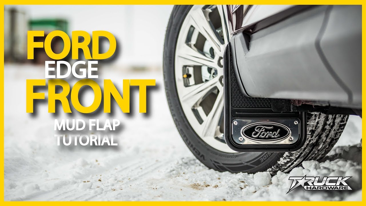 Current Ford Edge Front Mud Flap Installation