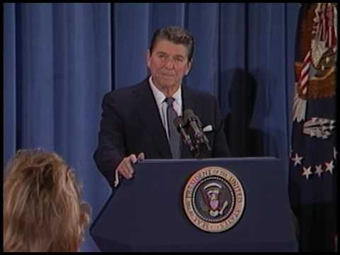 President Reagan's 9th Press Conference in the East Room on March 31, 1982
