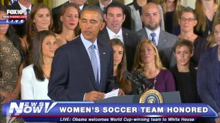 FNN: Obama Welcomes Champion US Women's Soccer Team to White House