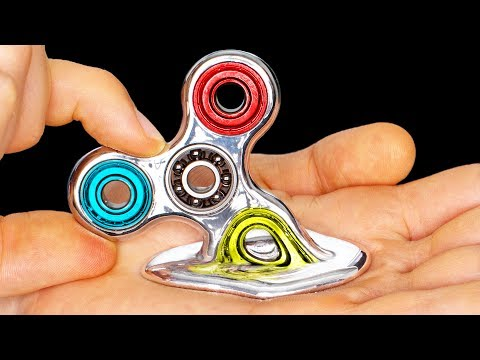 Thumbnail: DIY Fidget Spinner MELTS IN YOUR HAND!!!!!!!! Rare Liquid Mirror DIY Fidget Spinners Toys & Tricks