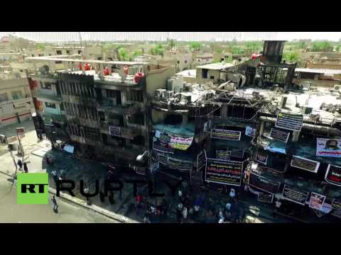 Iraq: Drone captures the aftermath of deadly Baghdad bombing