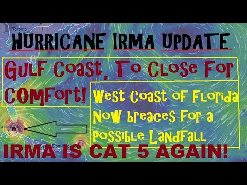 Hurricane IRMA CAT 5 AGAIN! Gulf Coast