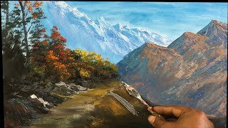 Painting Demo   Landscape Painting  Nature painting   Scenery Painting   Acrylic Painting  Art Candy