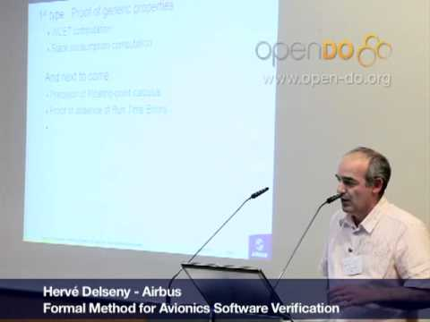 Formal Method for Avionics Software Verification pt1 (Hervé Delseny)