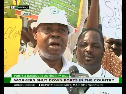 Maritme workers shut down Ports in Nigeria